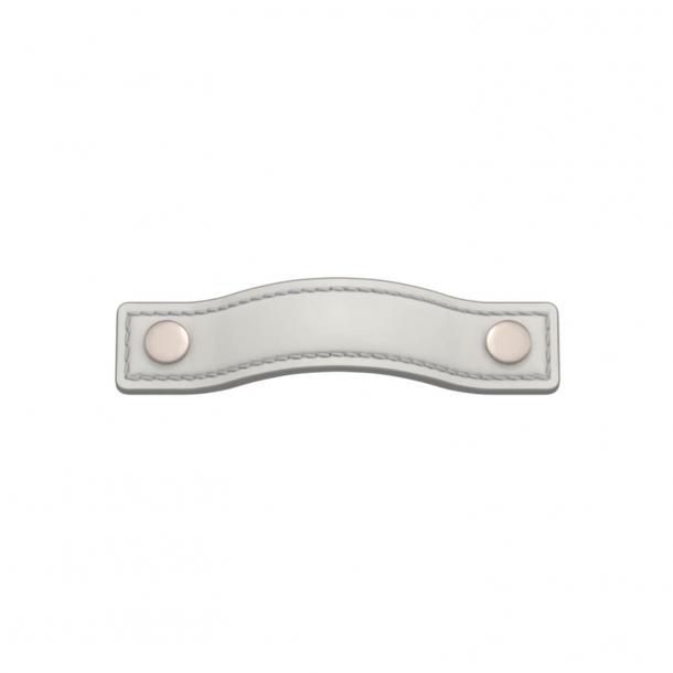 Turnstyle Designs Møbelgreb - Hvidt læder / Satin nikkel - Model A1182