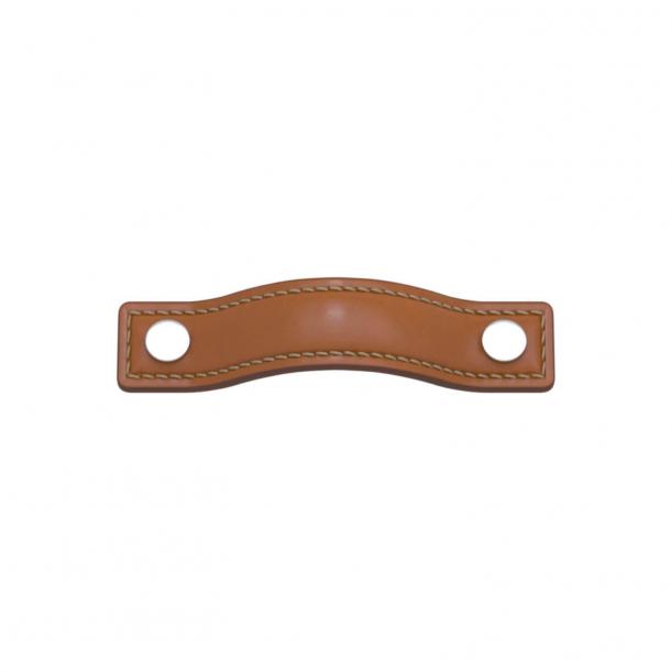 Turnstyle Designs Møbelgreb - Solbrunt læder / Blank krom - Model A1182