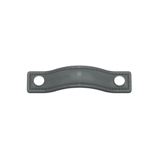 Turnstyle Designs Møbelgreb - Skifergråt læder / Poleret nikkel - Model A1182