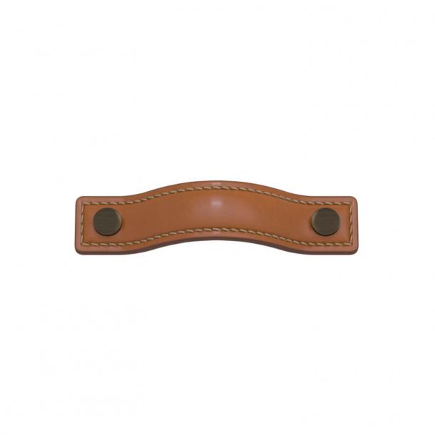 Turnstyle Designs Møbelgreb - Solbrunt læder / Antik messing - Model A1182