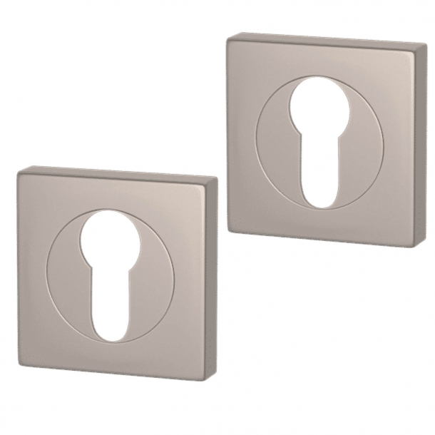 Cylinder ring - Europrofile - Satin nickel - Square - Turnstyle Designs Model S1424