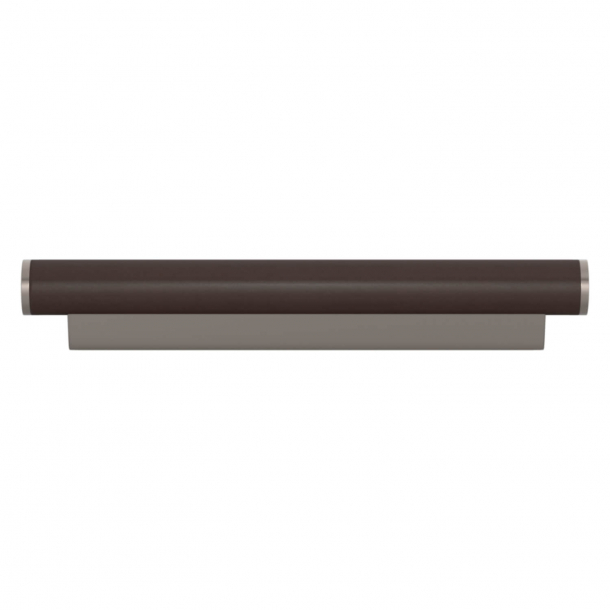 Turnstyle Designs Möbelhandtag - Chokladfärgat läder / Satäng nickel - Model R2231