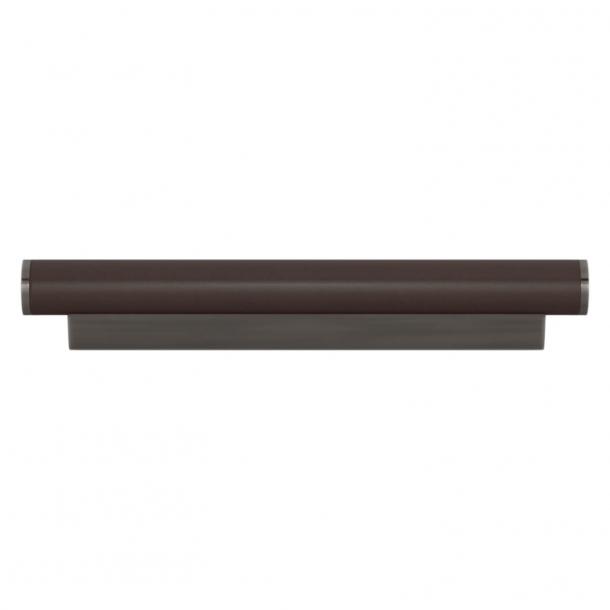 Turnstyle Designs Möbelhandtag - Chokladfärgat läder / Vintage nickel - Model R2231