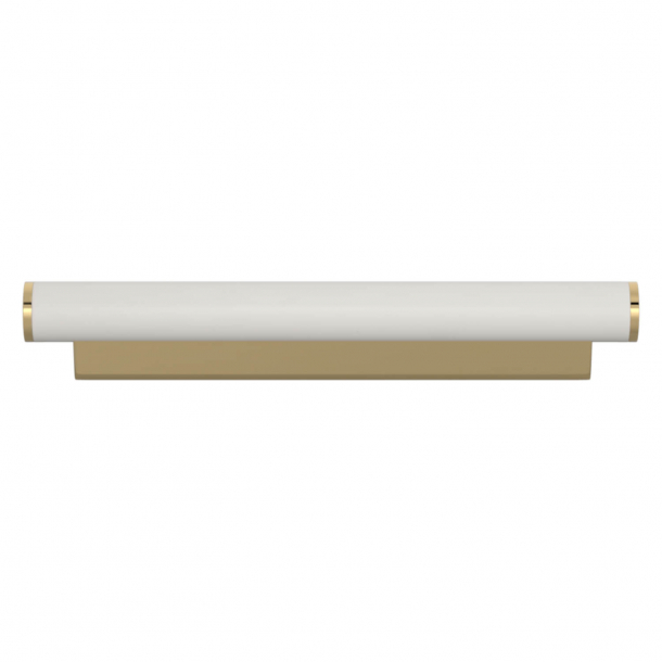 Turnstyle Designs Cabinet handle - White leather / Polished brass - Model R2231