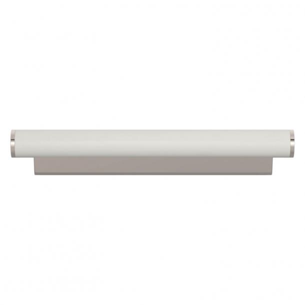 Turnstyle Designs Møbelgreb - Hvidt læder / Poleret nikkel - Model R2231