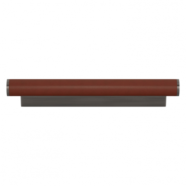 Turnstyle Designs Cabinet handle - Chestnut leather / Vintage nickel - Model R2231