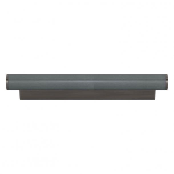 Turnstyle Designs Cabinet handle - Slate gray leather / Vintage nickel - Model R2231