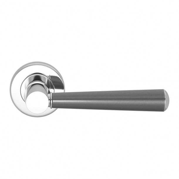 Turnstyle Design Door handle - Amalfine - Alupewt / Bright chrome - Model D1332