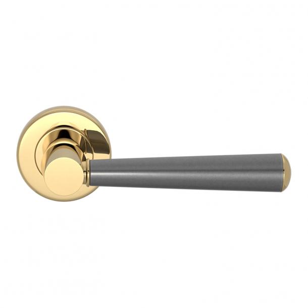Turnstyle Design Door handle - Amalfine - Alupewt / Polished brass - Model D1332