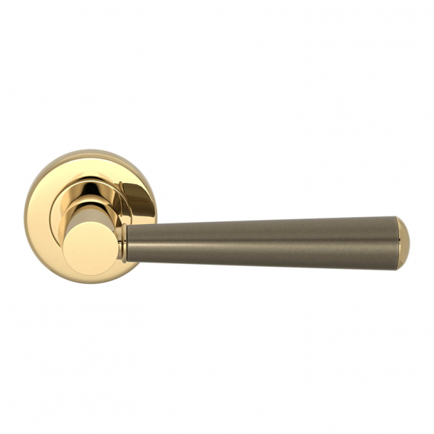 Turnstyle Design Door handle - Amalfine - Silver bronze/ Polished brass - Model D1332
