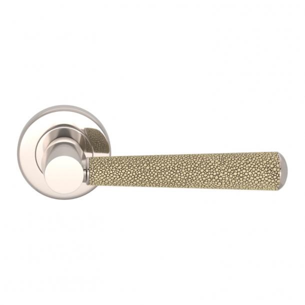 Turnstyle Design Door handle - Amalfine - Sand / Polished nickel - Model D2005