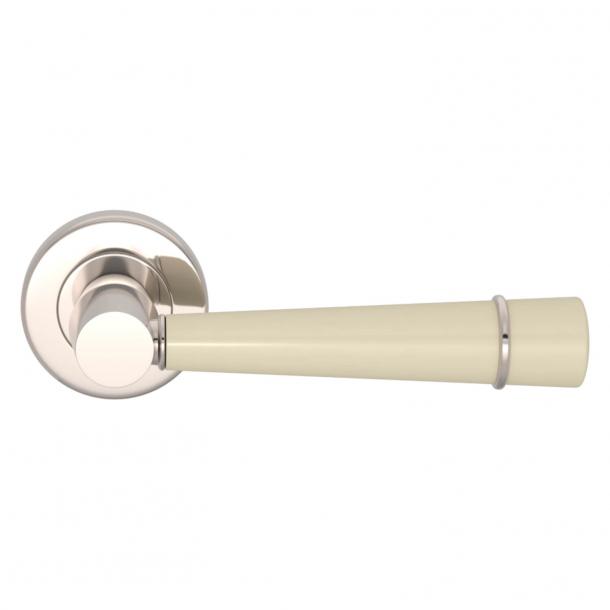 Turnstyle Design Door handle - Amalfine - Bone / Polished nickel - Model D3240