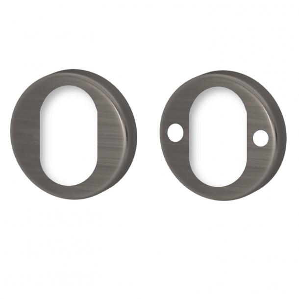 Podwójna rozeta cylindryczna - Vintage nikiel - Turnstyle Designs - Model ASSA - ø52 mm