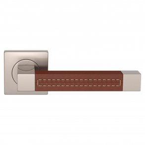 Door handles - Square Stitch Out Recess Leather