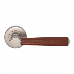 Door handle - Turnstyle Design - Tube - Stitch out - Combination leather - Model C1012