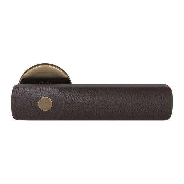 Turnstyle Design Door handle - Amalfine - Cocoa / Antique brass- Model E3500