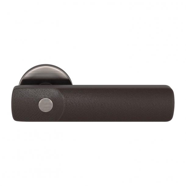 Turnstyle Design Door handle - Amalfine - Cocoa / Vintage nickel- Model E3500