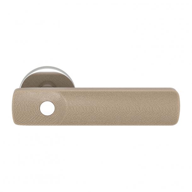 Turnstyle Design Dörrhandtag - Amalfine - Sandfärgad / Glansigt krom - Model E3500