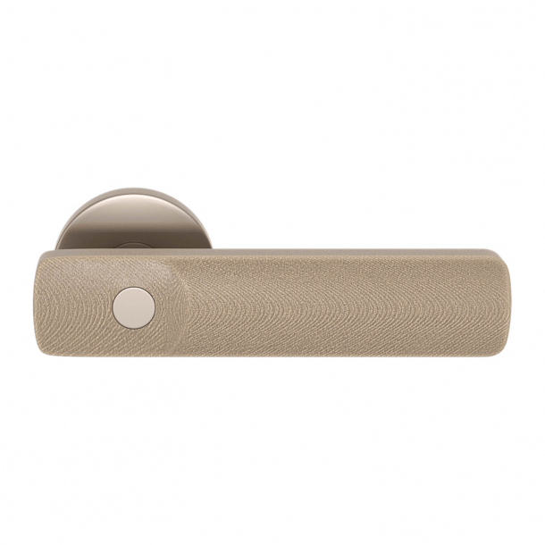 Turnstyle Design Dörrhandtag - Amalfine - Sandfärgad / Satäng nickel - Model E3500