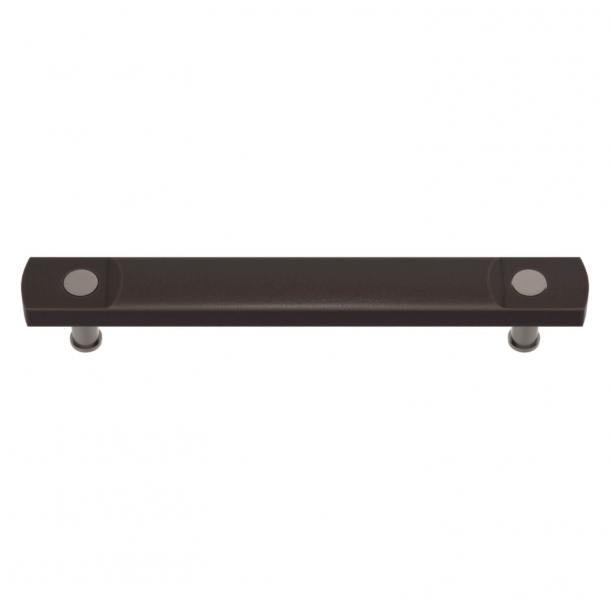 Turnstyle Designs Møbelgreb - Kakaofarvet Amalfine / Satin nikkel - Model E3700
