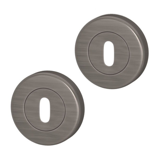 Escutcheon - Vintage Nickel - Turnstyle Designs Model S1422 - ø52 mm
