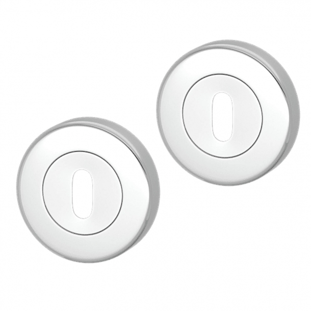 Escutcheon - Bright Chrome - Turnstyle Designs Model S1422 - ø52 mm
