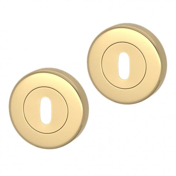 Nyckelring - Polerad mässing - Turnstyle Designs Model S1422 - ø52 mm