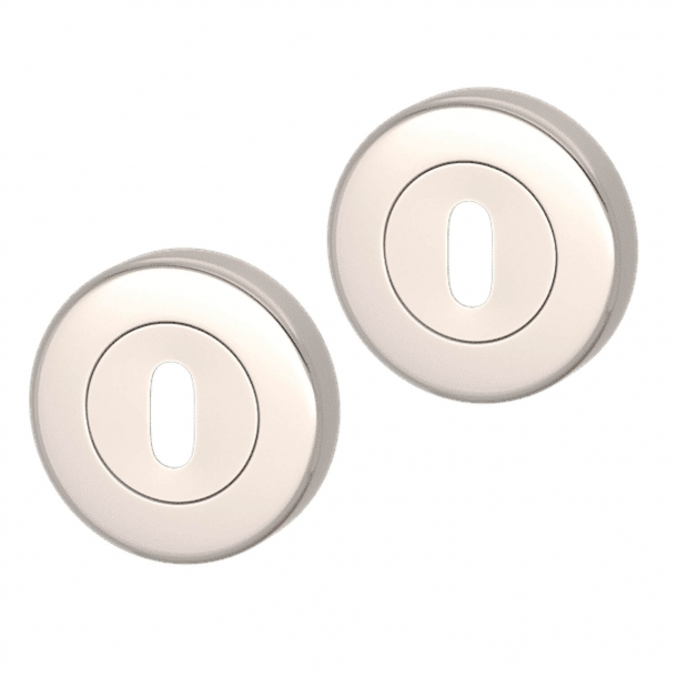 Escutcheon - Polished Nickel - Turnstyle Designs Model S1422 - ø52 mm