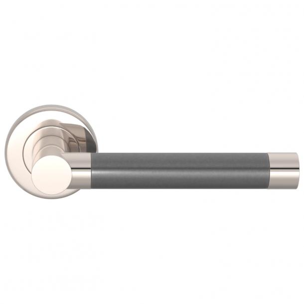 Turnstyle Design Door handle - Alupewt / Polished nickel - Model P1333