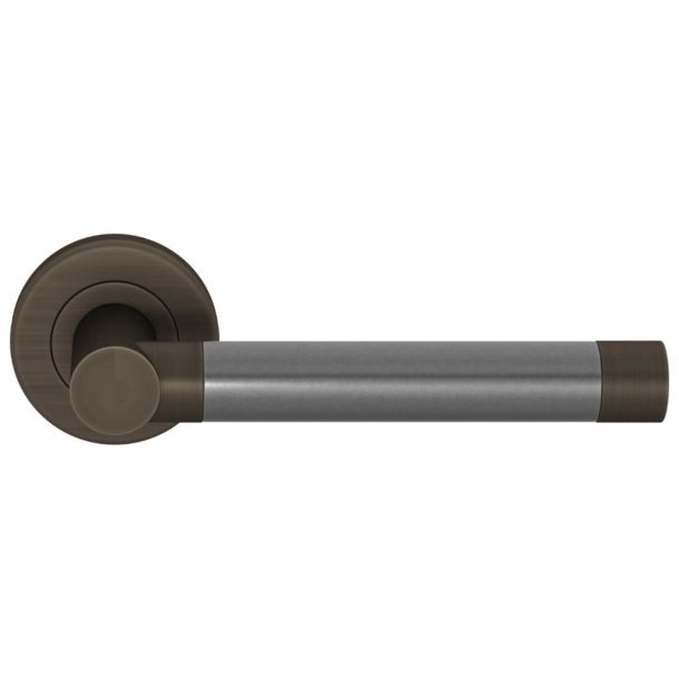 Turnstyle Design Door handle - Alupewt / Vintage patina - Model P1333