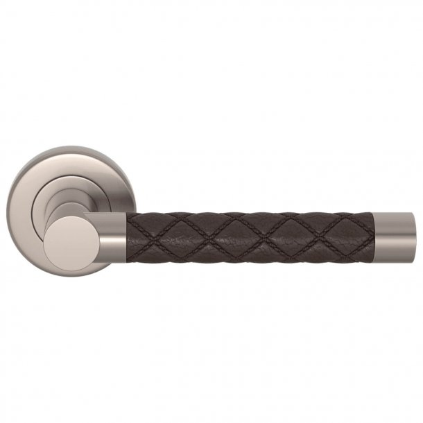 Door handle Amalfine - Cocoa / Satin Nickel chrome - Model CHESTERFIELD