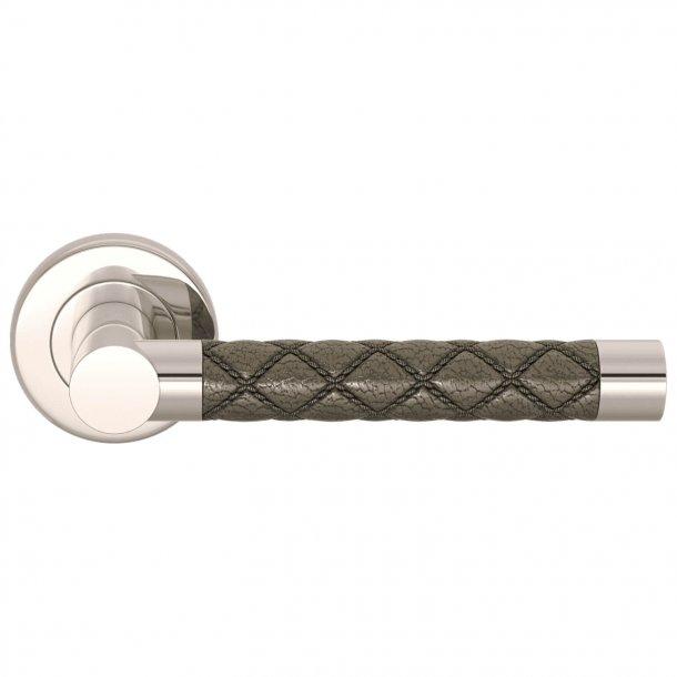 Dørgreb Amalfine - Sølv bronze / Blank nikkel - Model CHESTERFIELD
