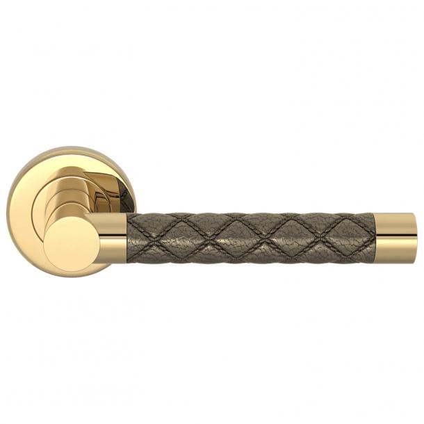 Klamka do drzwi - Turnstyle Design - Amalfine - Srebrny Brąz / Polerowany mosiądz - CHESTERFIELD
