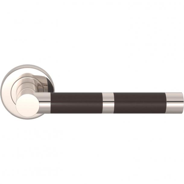 Turnstyle Design Door handle - Amalfine - Cocoa / Polished nickel - Model P2771