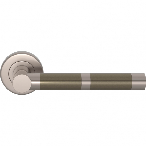 Turnstyle Design Door handle - Amalfine - Silver bronze / Satin nickel - Model P2771