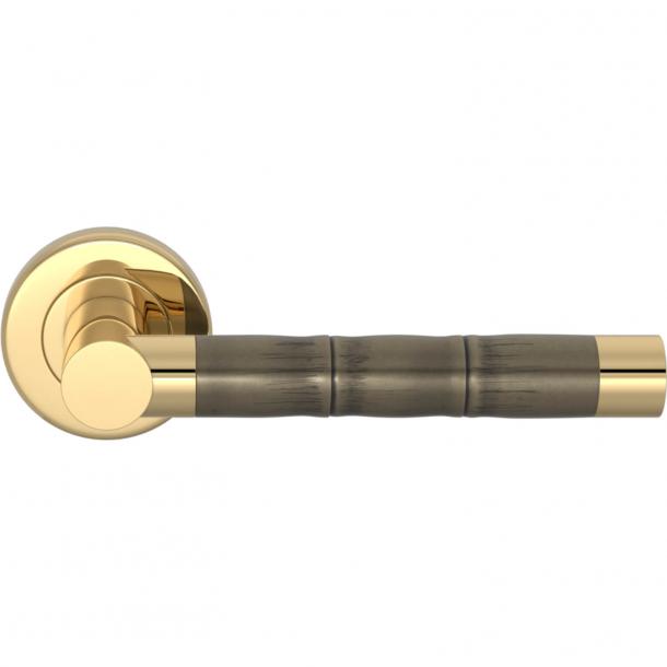 Turnstyle Design Dørgreb - Amalfine - Sølv bronze / Poleret messing - Model P2856