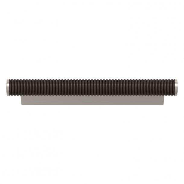 Turnstyle Designs Cabinet handles - Cocoa Amalfine / Polished nickel - Model P3170