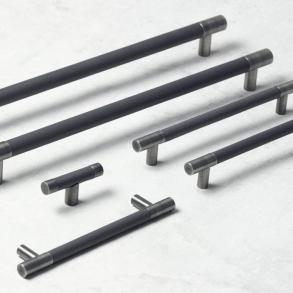 Turnstyle Design Cabinet Handle - BARREL D - Leather - Model R1197