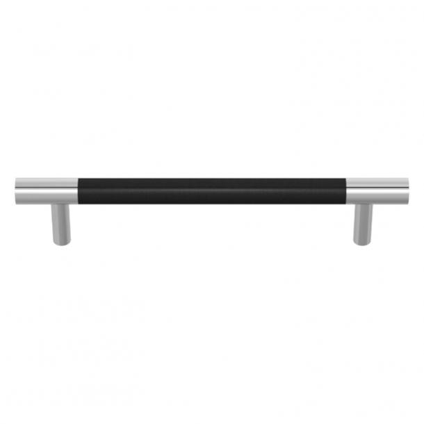 Uchwyt do mebli - Turnstyle Designs  - Czarna skóra / Błyszczący chrom - Model R1197