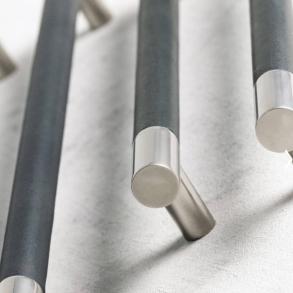 Turnstyle Design Cabinet Handle - 16 mm Barrel - Leather - Model R1300