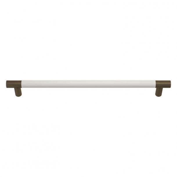 Turnstyle Designs Møbelgreb - Hvidt læder / Antik messing - Model R1300