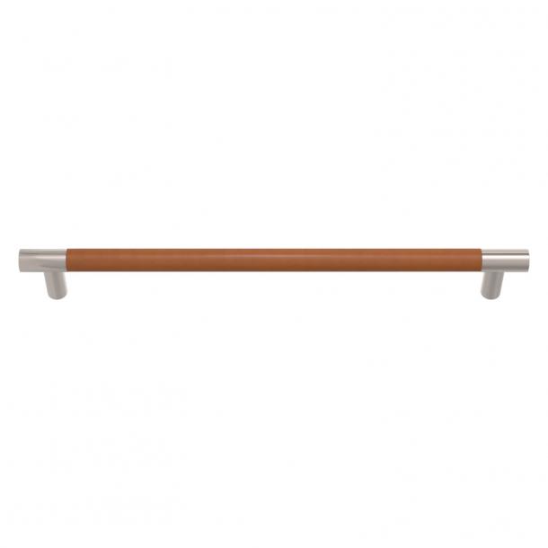 Turnstyle Designs Møbelgreb - Solbrunt læder / Poleret nikkel - Model R1300