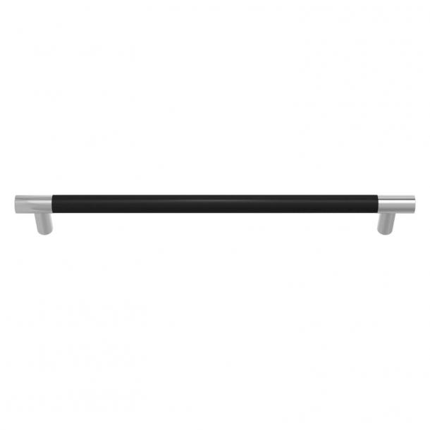 Turnstyle Designs Møbelgreb - Sort læder / Blank krom - Model R1300