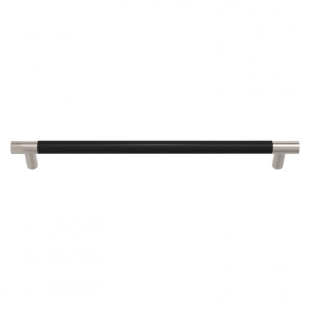 Turnstyle Designs Møbelgreb - Sort læder / Poleret nikkel - Model R1300