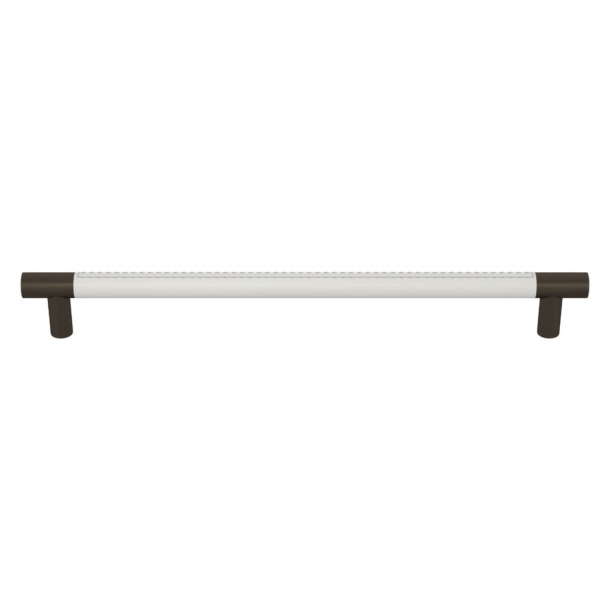 Turnstyle Designs Cabinet handles - White leather / Vintage patina - Model R1512