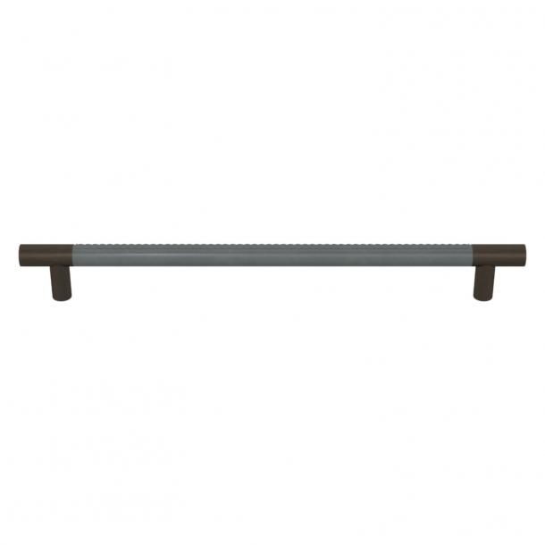 Uchwyt do mebli - Turnstyle Designs  -Szara skóra / Patyna - Model R1512
