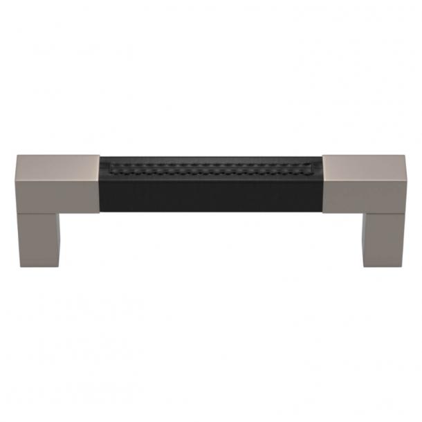 Turnstyle Designs Møbelgreb - Sort læder / Satin nikkel - Model R1755