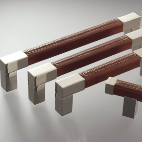 Turnstyle Design Cabinet Handle - SQUARE - Leather - Model R1755