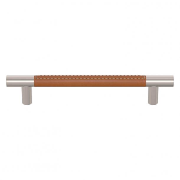 Turnstyle Designs Møbelgreb - Solbrunt læder / Poleret nikkel - Model R1910