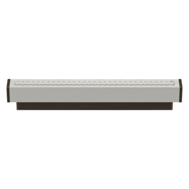 Turnstyle Designs Cabinet handles - White leather / Vintage patina - Model R2234